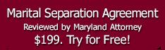 Marital Separation Agreement